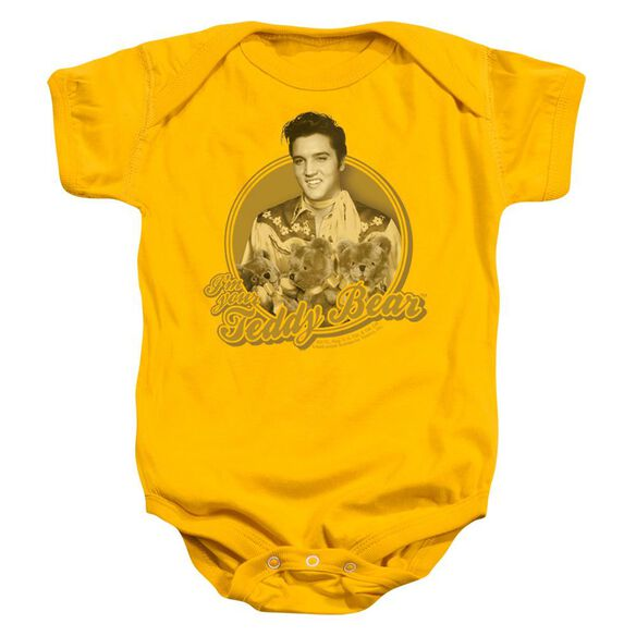 Elvis Teddy Bear Infant Snapsuit Gold Xl