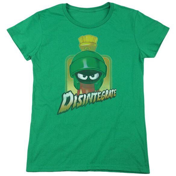 Looney Tunes Disintegrate Short Sleeve Womens Tee Kelly T-Shirt