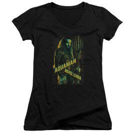 Justice League Movie Aquaman Junior V Neck T-Shirt
