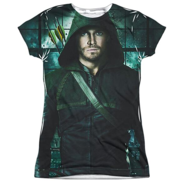 Arrow Two Sides Short Sleeve Junior Poly Crew T-Shirt