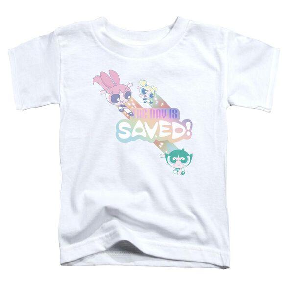 Powerpuff Girls The Day Is Saved Short Sleeve Toddler Tee White T-Shirt