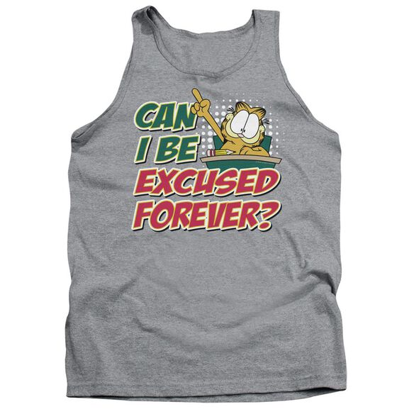 Garfield Excused Forever - Adult Tank - Athletic Heather