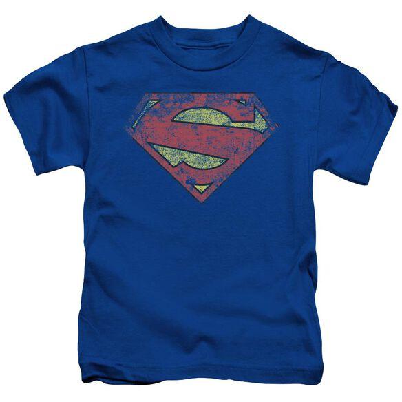 Superman New 52 Shield Short Sleeve Juvenile Royal T-Shirt