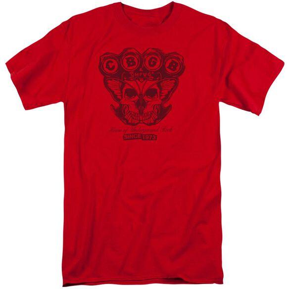 Cbgb Moth Skull Short Sleeve Adult Tall T-Shirt