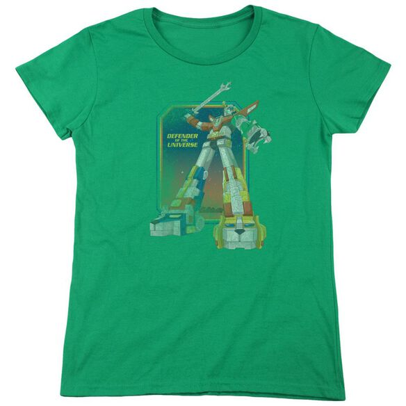 Voltron Distressed Defender Short Sleeve Womens Tee Kelly T-Shirt