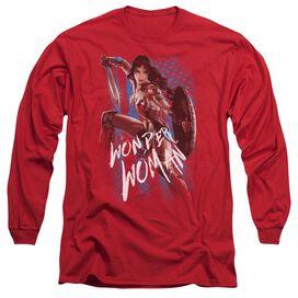 Wonder Woman Movie American Hero Long Sleeve Adult T-Shirt
