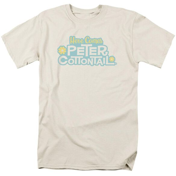 Here Comes Peter Cottontail Logo Short Sleeve Adult Cream T-Shirt