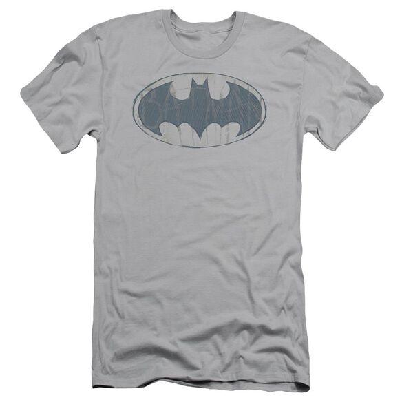 Batman Water Sketch Signal Short Sleeve Adult T-Shirt