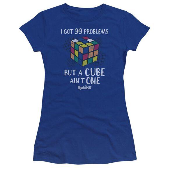 Rubik's Cube 99 Problems Premium Bella Junior Sheer Jersey Royal