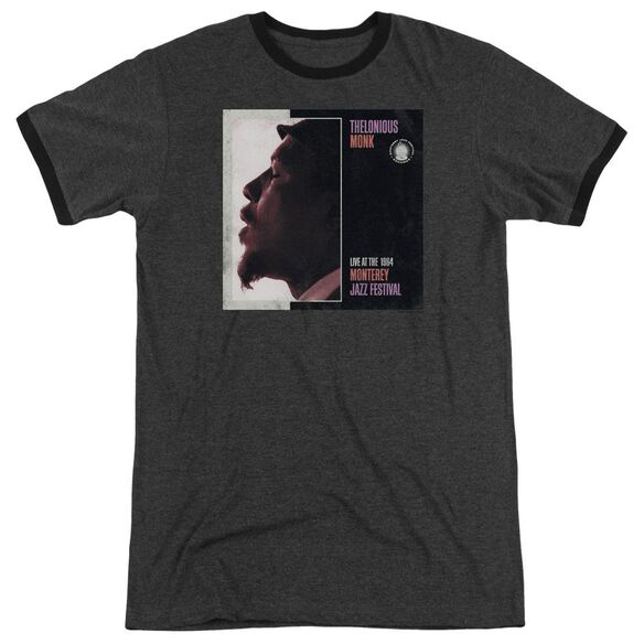 Thelonious Monk Monterey Adult Heather Ringer Charcoal