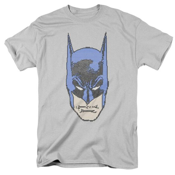 Batman Bitman Short Sleeve Adult Silver T-Shirt