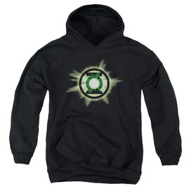 Green Lantern Green Glow-youth Pull-over Hoodie