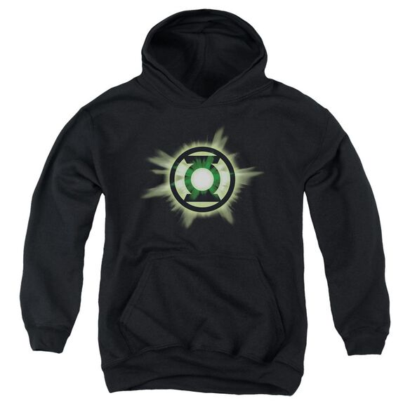 Green Lantern Green Glow Youth Pull Over Hoodie