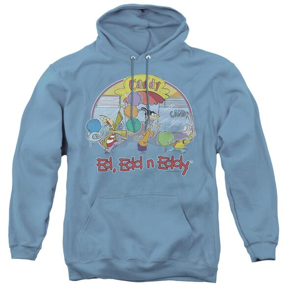 Ed Edd Eddy Jawbreakers - Adult Pull-over Hoodie - Carolina Blue