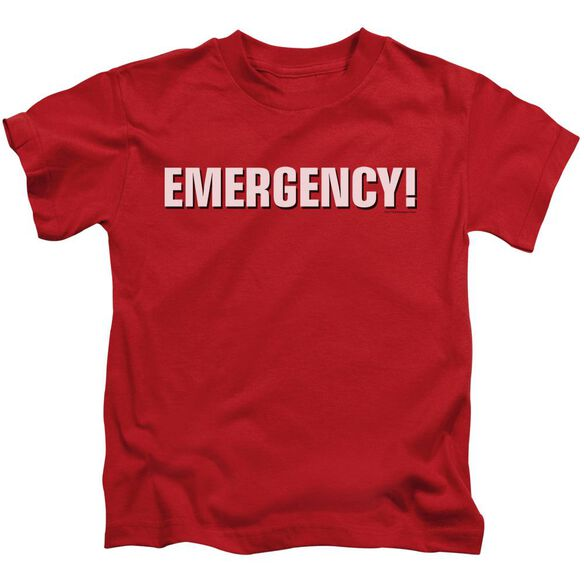 Emergency Logo Short Sleeve Juvenile Red Md T-Shirt
