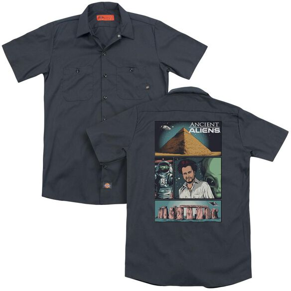 Ancient Aliens Aliens Comic Page (Back Print) Adult Work Shirt