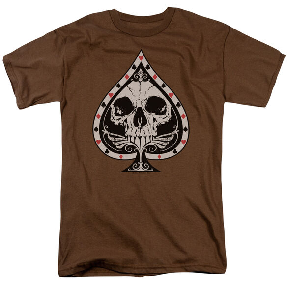 SKULL SPADE - ADULT 18/1 - COFFEE T-Shirt