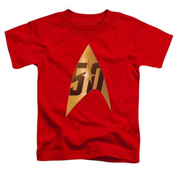 Star Trek 50 Th Anniversary Delta Short Sleeve Toddler Tee Red T-Shirt