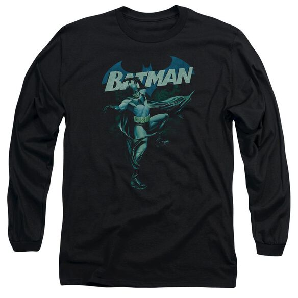 Batman Blue Bat Long Sleeve Adult T-Shirt