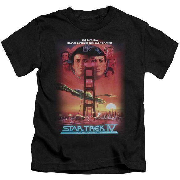 Star Trek The Voyage Home(Movie) Short Sleeve Juvenile Black T-Shirt