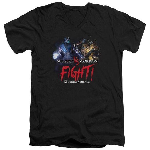 Mortal Kombat X Fight Short Sleeve Adult V Neck T-Shirt
