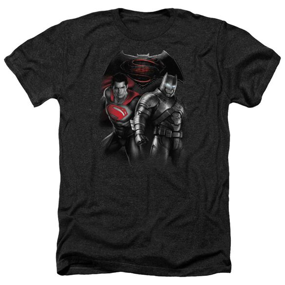 Batman V Superman Stand Off Adult Heather