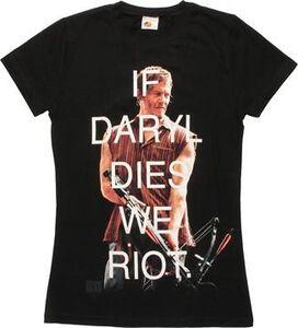 Walking Dead If Daryl Dies We Riot Juniors Shirt