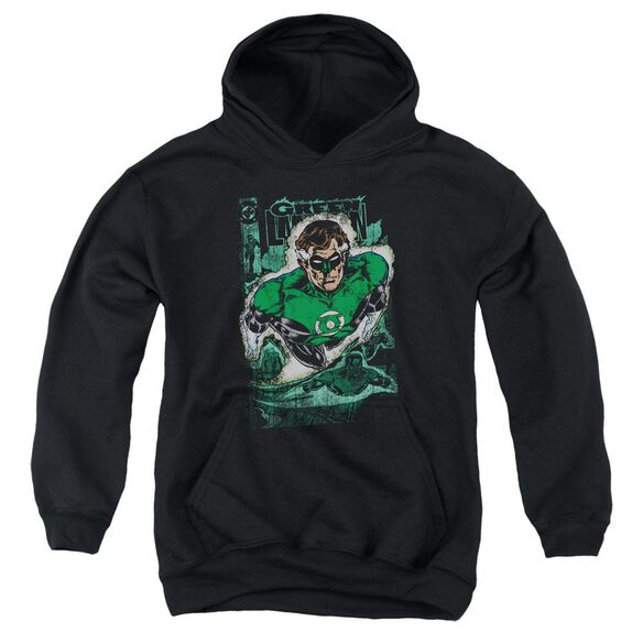 Jla Green Lantern #1 Distress Youth Pull Over Hoodie
