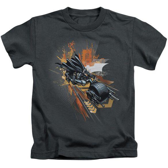 Dark Knight Rises Batpod Short Sleeve Juvenile Charcoal T-Shirt