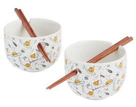 Gudetama Noodle Bowl Set with Chopsticks [2-Piece]