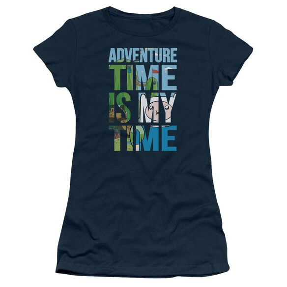 Adventure Time My Time Short Sleeve Junior Sheer T-Shirt