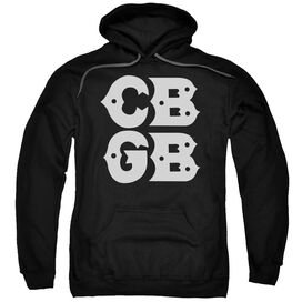 Cbgb Stacked Logo Adult Pull Over Hoodie