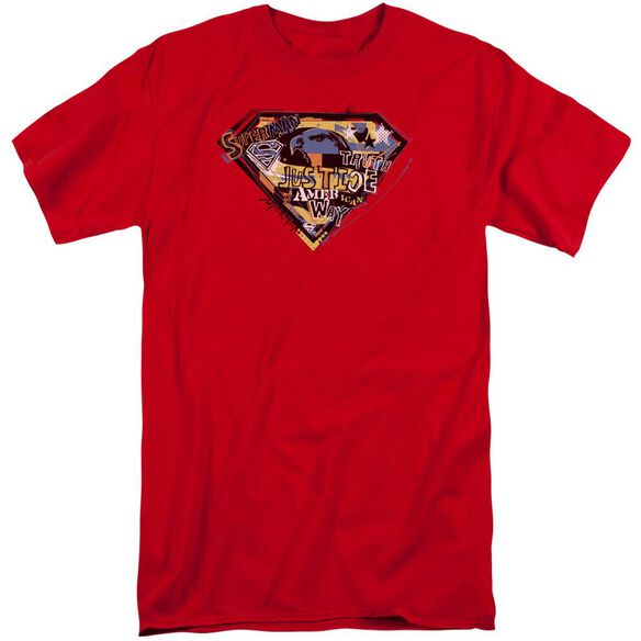 Superman American Way Short Sleeve Adult Tall T-Shirt