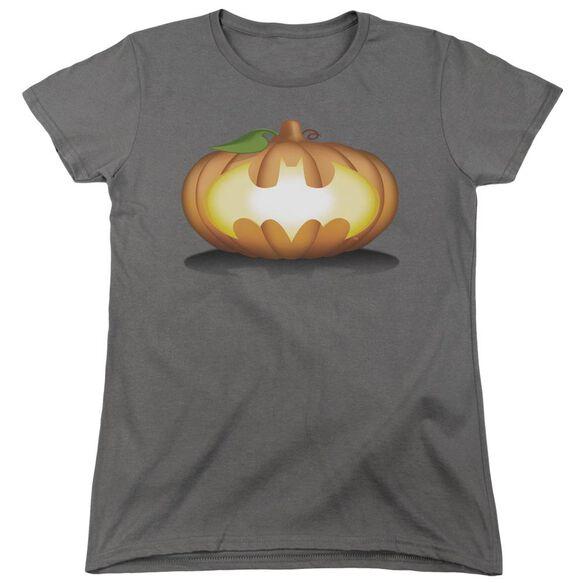 Batman Bat Pumpkin Logo Short Sleeve Womens Tee T-Shirt