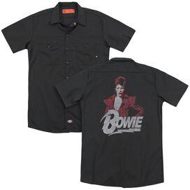 David Bowie Diamond David (Back Print) Adult Work Shirt