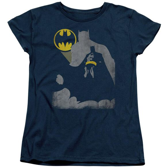 Batman Bat Knockout Short Sleeve Womens Tee T-Shirt