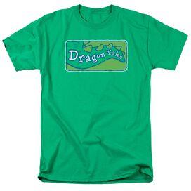 Dragon Tales Logo Clean Short Sleeve Adult Kelly Green T-Shirt