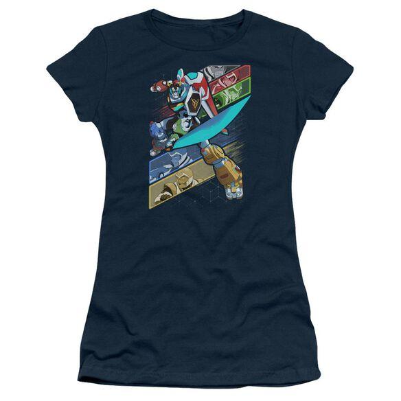 Voltron Crisscross Short Sleeve Junior Sheer T-Shirt