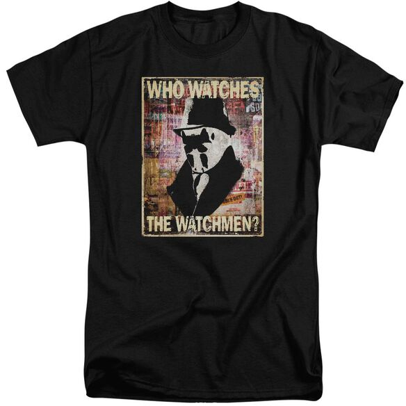 Watchmen Who Watches Short Sleeve Adult Tall T-Shirt