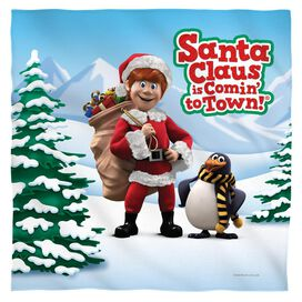 Santa Claus Is Comin To Town Kris And Topper Bandana White