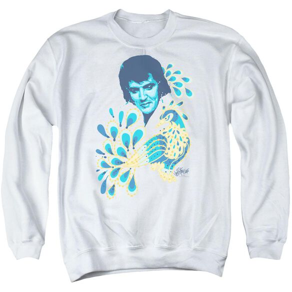 Elvis Peacock Adult Crewneck Sweatshirt