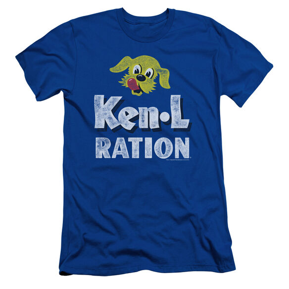 KEN L RATION DISTRESSED LOGO - S/S ADULT 30/1 - ROYAL BLUE T-Shirt