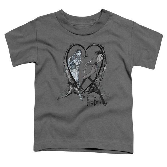 Corpse Bride Runaway Groom Short Sleeve Toddler Tee Charcoal Lg T-Shirt