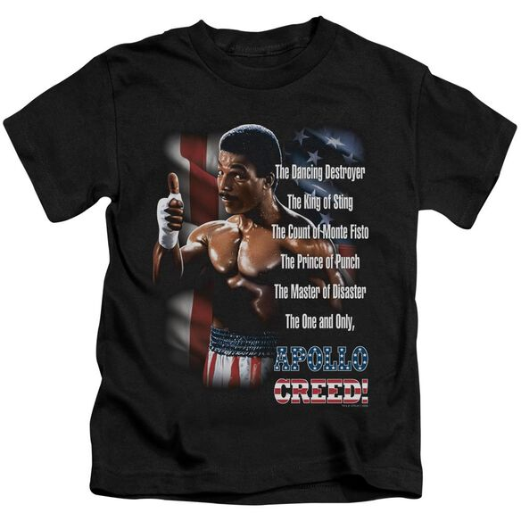 Rocky Ii The One And Only Short Sleeve Juvenile Black T-Shirt
