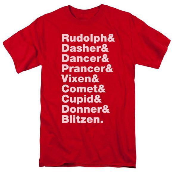 Reindeer Short Sleeve Adult T-Shirt