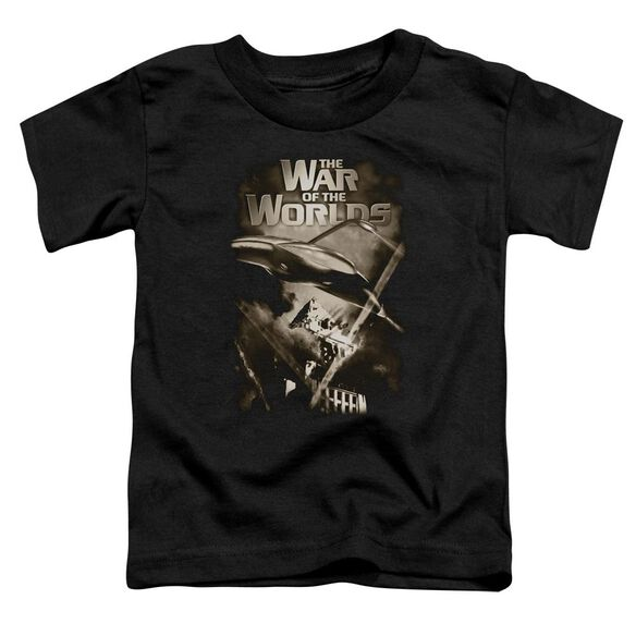 War Of The Worlds Death Rays Short Sleeve Toddler Tee Black Md T-Shirt