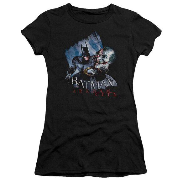 Arkham City Joke's On You! Short Sleeve Junior Sheer T-Shirt