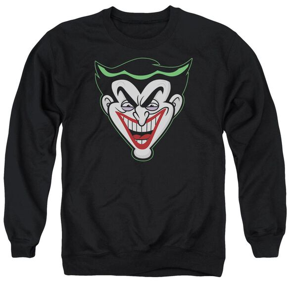 Batman Bb Animated Joker Head Adult Crewneck Sweatshirt