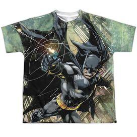 Batman Catch Short Sleeve Youth Poly Crew T-Shirt