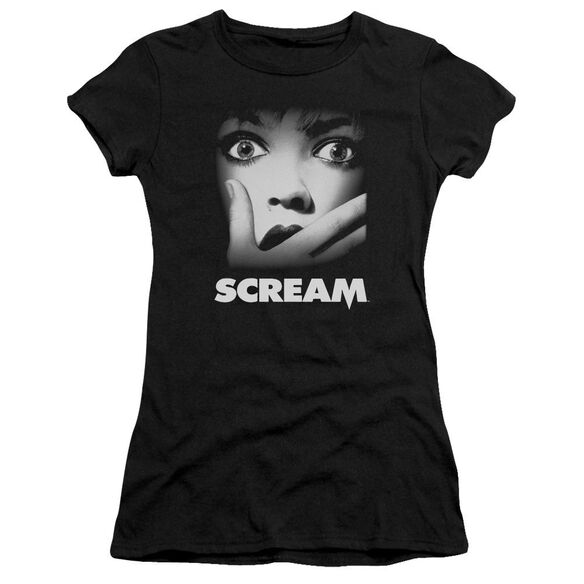 Scream Poster Short Sleeve Junior Sheer T-Shirt